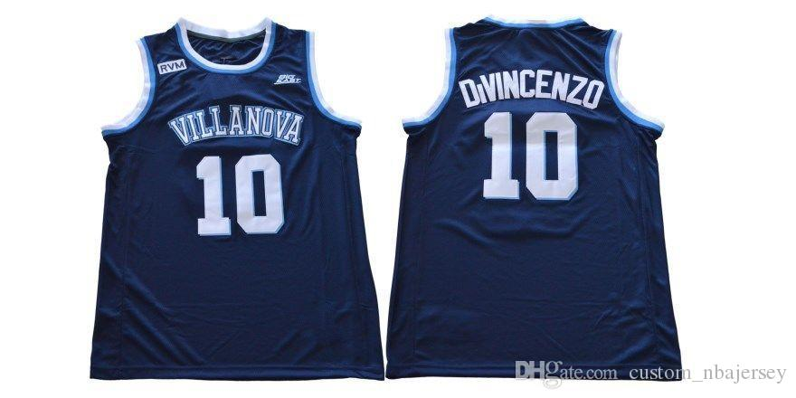 purchase cheap 419d8 aa47d Cheap custom 2018 Villanova No. 10 Donte DiVincenzo College Navy Blue  Jersey Stitched Customize any number name MEN WOMEN YOUTH XS-5XL