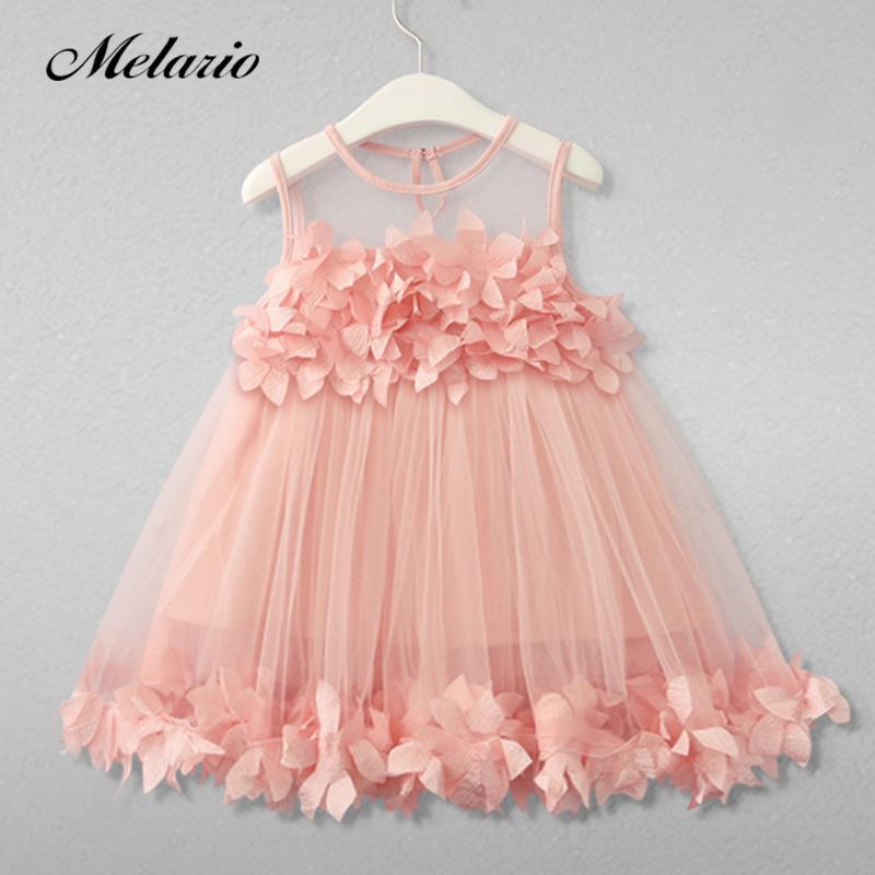 402fd80b9f67b Satın Al Melario Kızlar Elbiseler 2018 Tatlı Prenses Elbise Bebek Çocuk Kız  Giyim Düğün Parti Elbiseler Çocuk Giyim Pembe Aplike, $9.34 | DHgate.Com'da