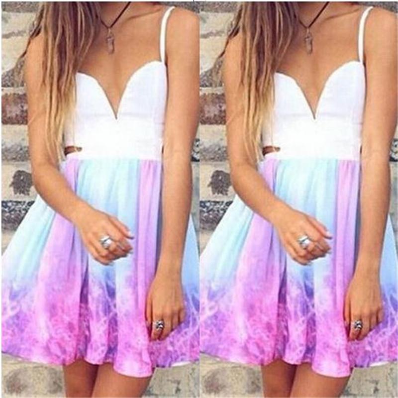 Womens Women's Party Dress New Sweetheart Fashion Dresses Beach Short Mini Dress Homecoming Party 2019 Swing Dress Fashion