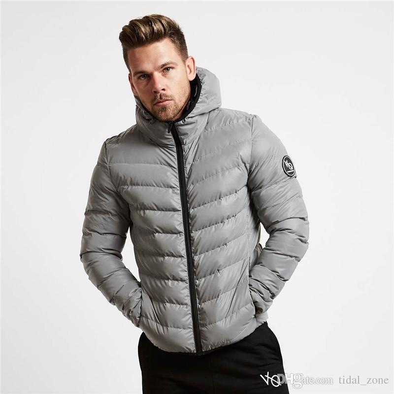 2019 gym New Fashion popular men's Heating cotton jacket, muscle fitness brothers, hooding, zipper jacket gym hoodies coat