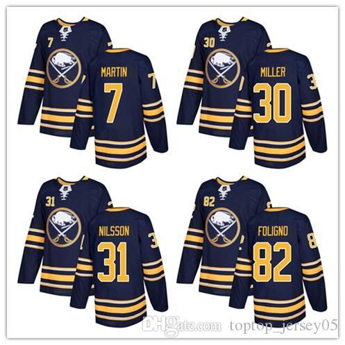 ab3b6b7c9 2019 2018 Buffalo Sabres Jerseys  7 Rick Martin 30 Ryan Miller 31 Anders  Nilsson Jersey Men WOMEN YOUTH Men S Baseball Jersey From Toptop jersey05