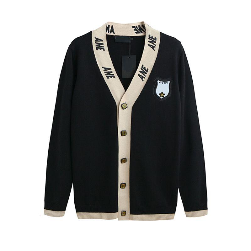 c5179f3d4 2019 18ss Europe Paris Autumn University Style Sweater Sweatshirt Fashion  Women Clothes Luxury Cotton Cardigan Hoodie Sweaters From Clothesxxl1, ...