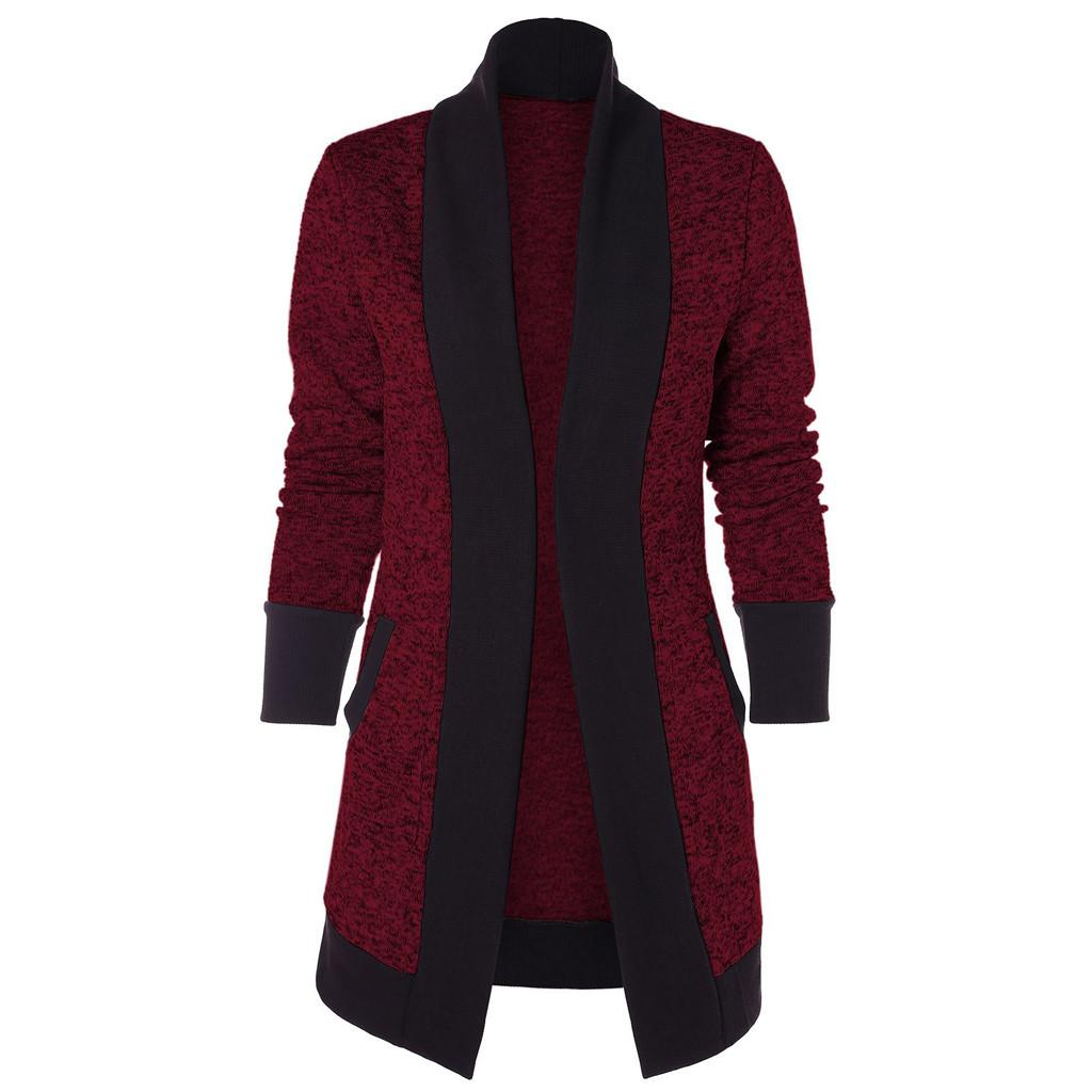 jacket women Kimono Cardigan Long Sleeve patchwork Knitted jacket coat women Fashion Vintage jacket women clothes veste femme