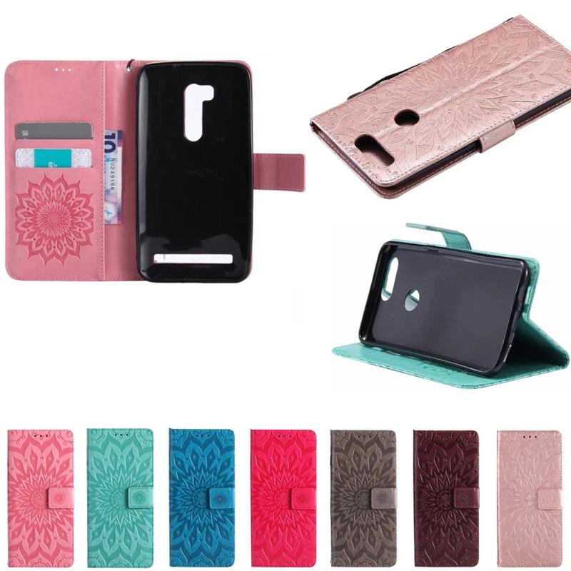 promo code d5f0b 8849b Wallet Leather Coque Cover for ASUS ZenFone Go ZB551KL Book Flip Case for  ASUS ZenFone Selfie ZD551KL ZB452 Card Slots Capinhas