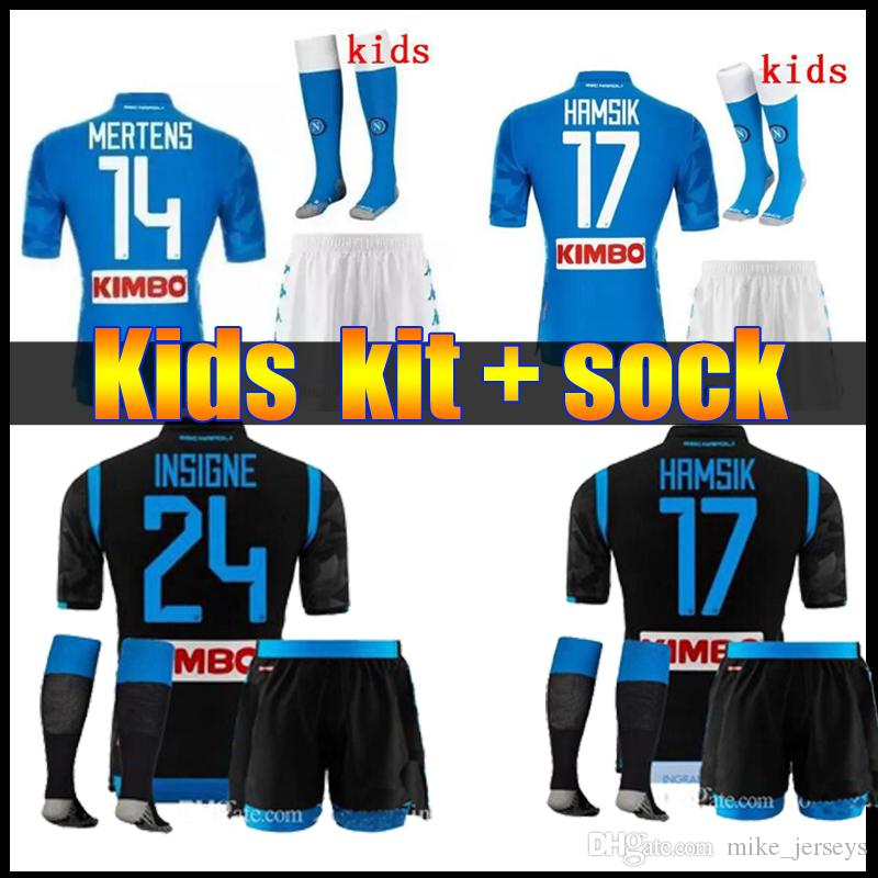 e57fdc648 2019 Kids Kit 18 19 Napoli Soccer Jersey Home 2018 2019 Naples ZIELINSKI  HAMSIK INSIGNE MERTENS CALLEJON PLAYER ROG Football Shirts From  Mike jerseys