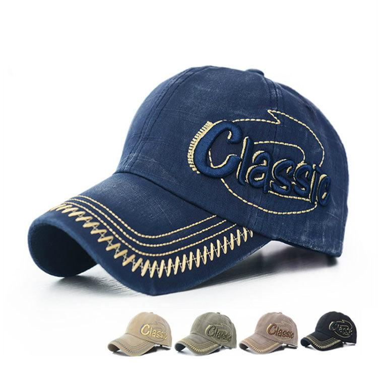 e57170d4962 Fashion Cool Cap Washed Vintage Glassic Letters Embroidery Baseball ...