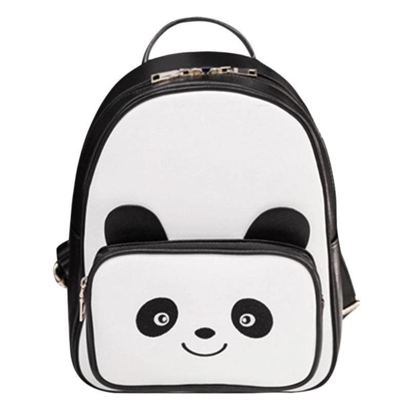 fc656d83df Lovely Panda Mini Girl Bags PU Leather Black Bookbag Casual Female Backpack  Fashion Teenagers School Bag New Women Backpacks Osprey Backpack Tool  Backpack ...