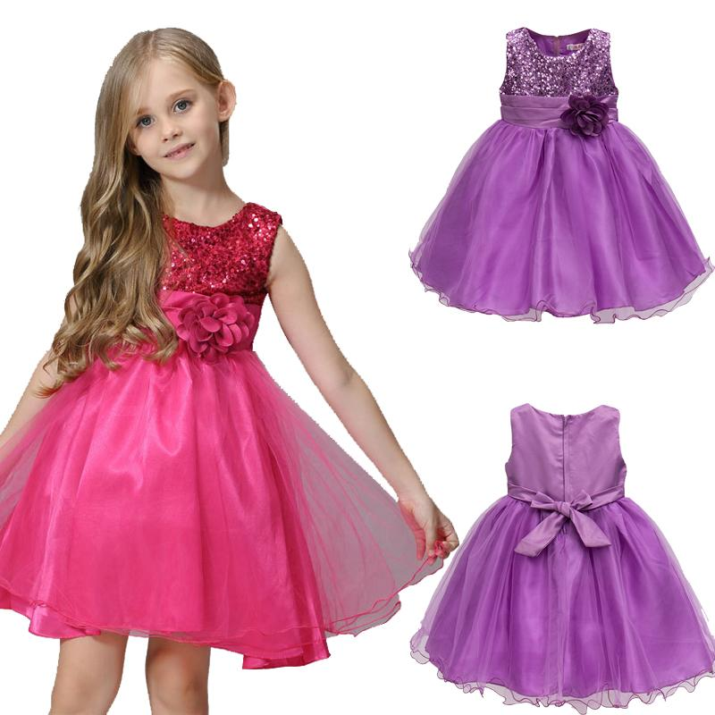 b006193d64d70 3-15Y Girls Dresses Children Ball Gown Princess Wedding Party Dress Girls  Summer Party Clothes High Quality