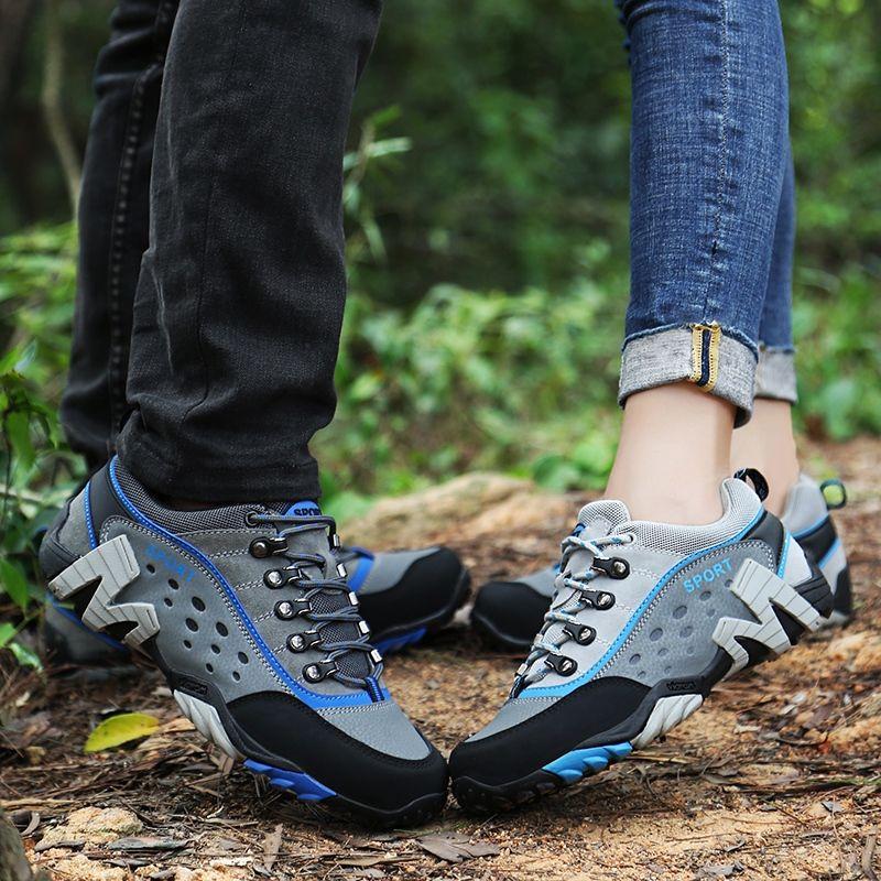 Zapatos De Hombres Mujeres Cómodas Botas Deporte Senderismo Atan Para Trekking Montaña Zapatillas Parejas Arriba Primavera Otoño rCxBedo