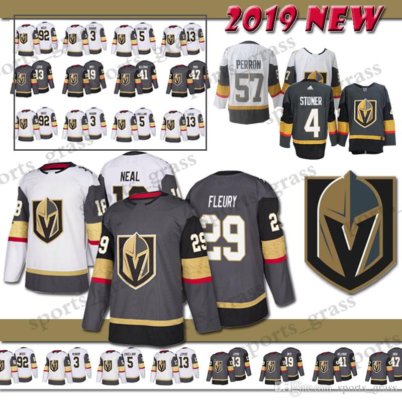 wholesale dealer e0b1f ffaae Adult Vegas Golden Knights Hockey Jersey 88 Nate Schmidt 29 Marc-Andre  Fleury 18 James Neal 71 Karlsson 56 Haula 67 Pacioretty Jerseys