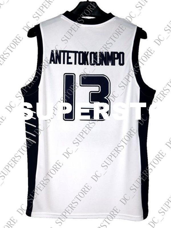 Cheap Wholesale Giannis Antetokounmpo Jersey 13 Greece Hellas White Sewn  Customize Any Name Number MEN WOMEN YOUTH Basketball Jersey Giannis  Antetokounmpo ... f9f8d1d35