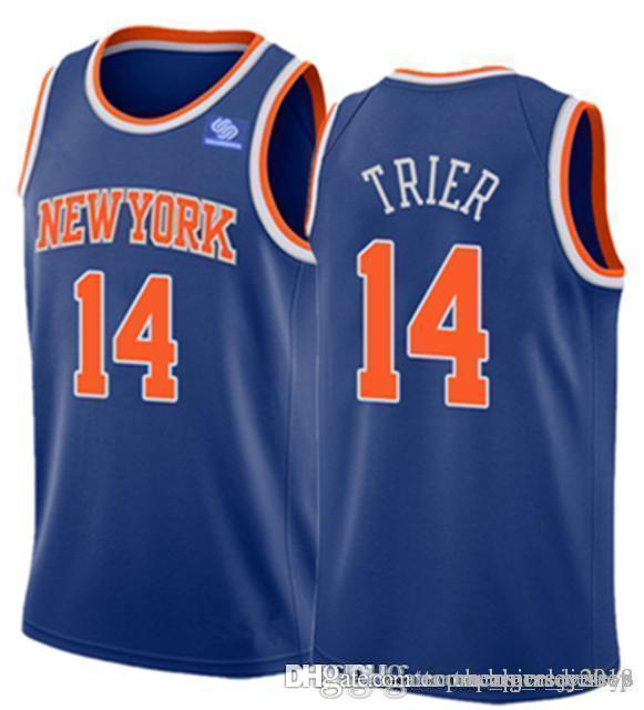 c643f9f62 Allonzo 14 Trier Jersey New York Mens Knicks Kevin 20 Knox Kristaps ...