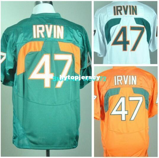 a2dd36c9c Factory Outlet Miami Hurricanes Jersey 47 Michael Irvin Jersey 26 Sean  Taylor 52 Ray Lewis 87 Reggie Wayne Stitched College Football Jersey UK  2019 From ...
