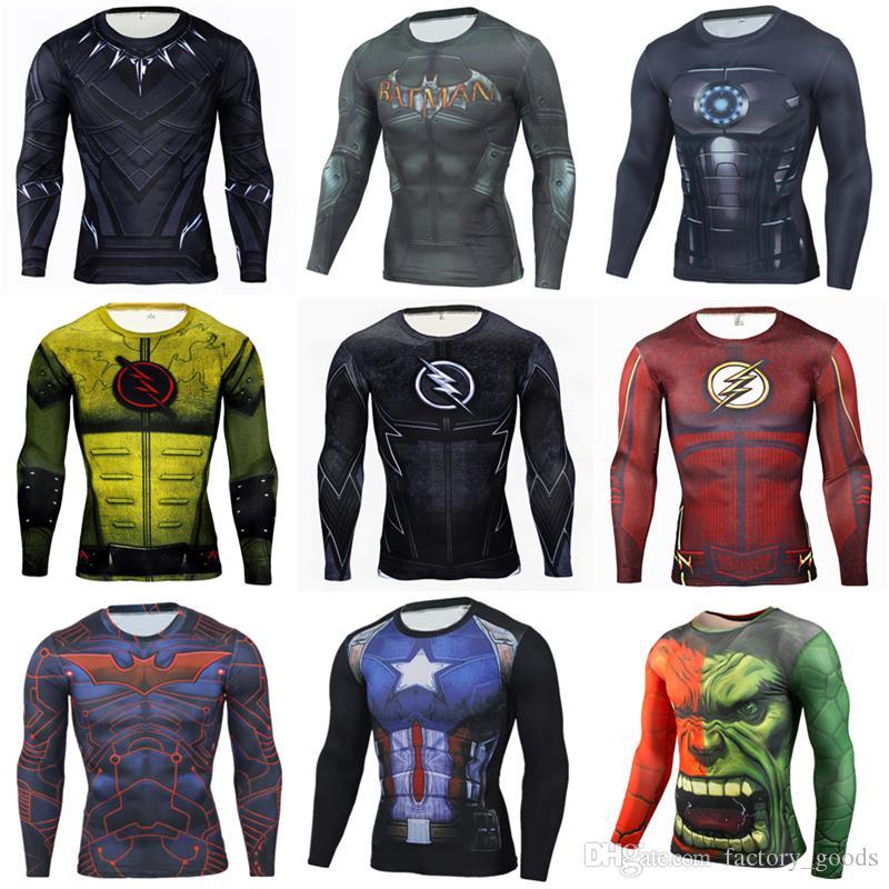 f3bb034a 2019 Summer Men T Shirts 3D Avengers Printed T Shirt Superman Spiderman  Batman Iron Man Hulk Sports Tight Tops Quick Drying Tees Hot B247 From  Factory_goods ...