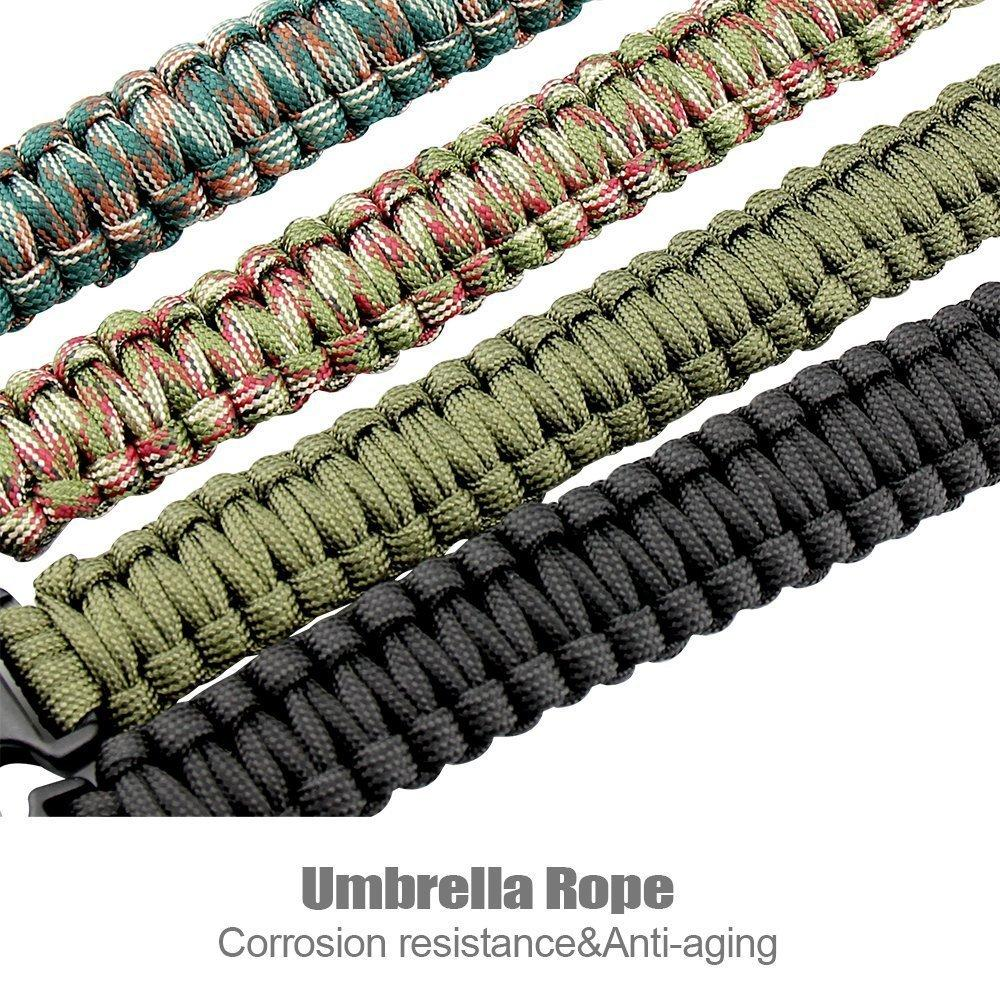 EDC Multi Tools Tactical Camouflage Outdoor survival watch bracelet compass Rescue Rope paracord Camping equipment (2)