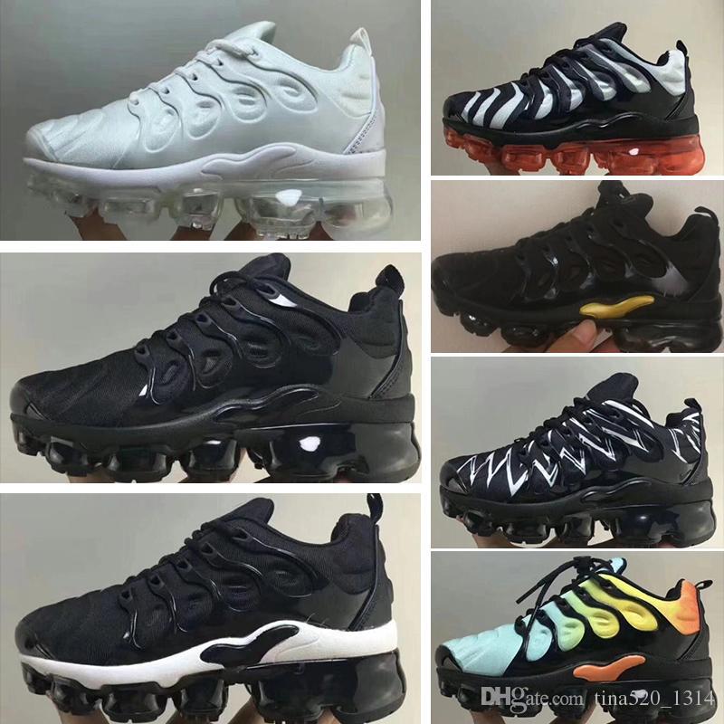 new product cb21a e6383 Acheter Nike 2018 TN Air Vapormax Plus Bred XI 11S Enfants Chaussure De  Basket Ball Gym Rouge Infantile Enfants Enfant En Bas Âge Gamma Bleu  Concord 11 ...