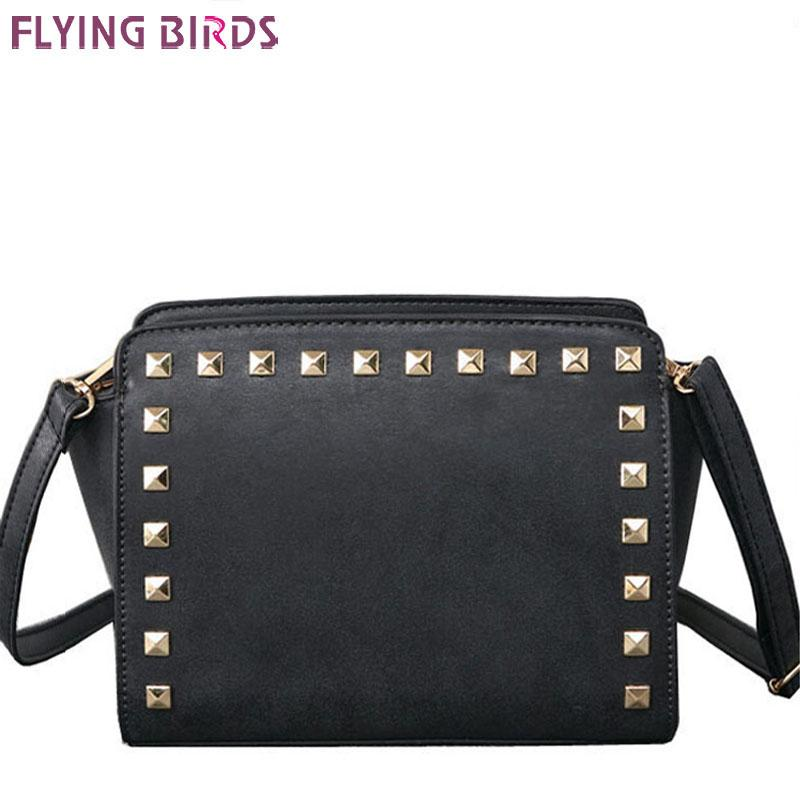 Wholesale-FLYING BIRDS! 2016 women messenger bags famous brands women leather handbag brands leather bag ladies bags shoulder bag LS4664fb