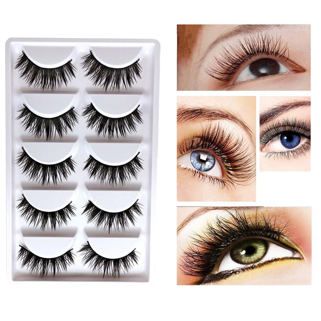 394382c5d68 Fashion Party False Eyelashes Lashes Voluminous Eye Lashes Makeup Tool  Natural Faux Mink False Eyelashes #05 Grow Eyelashes Individual Eyelash  Extensions ...