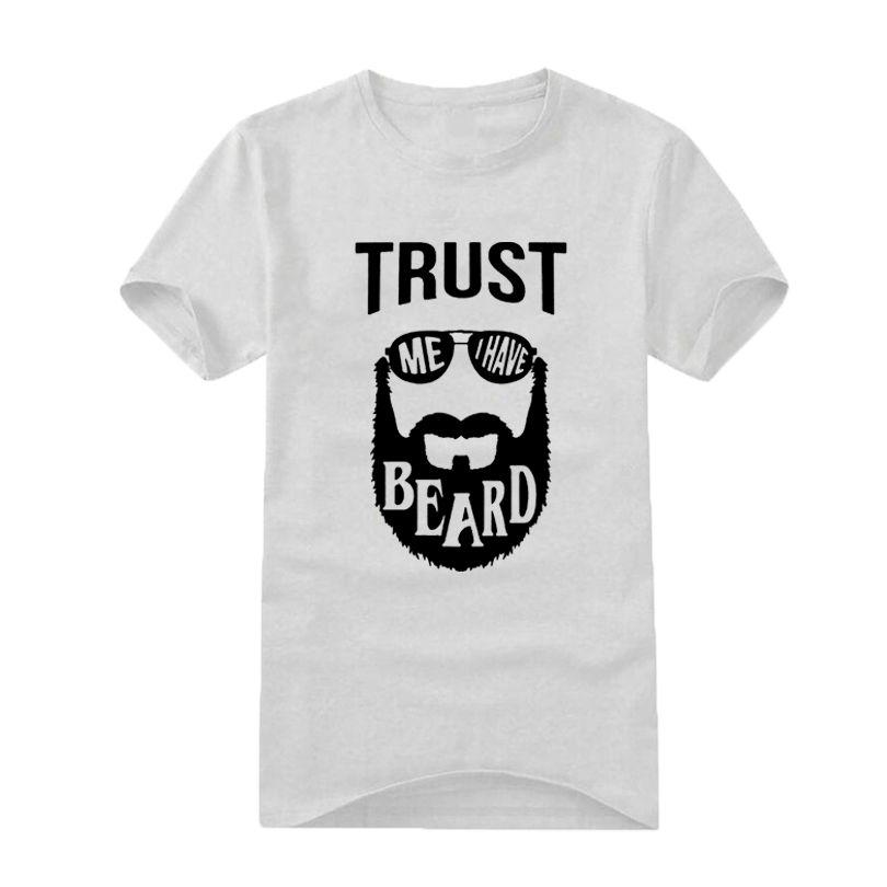 7c8ee6c71 Men Clothes 2019 Funny Print T Shirts Trust Me I Have A Beard Fashion Men's  T-shirt Black White Hipster Beard Print Tee Shirt
