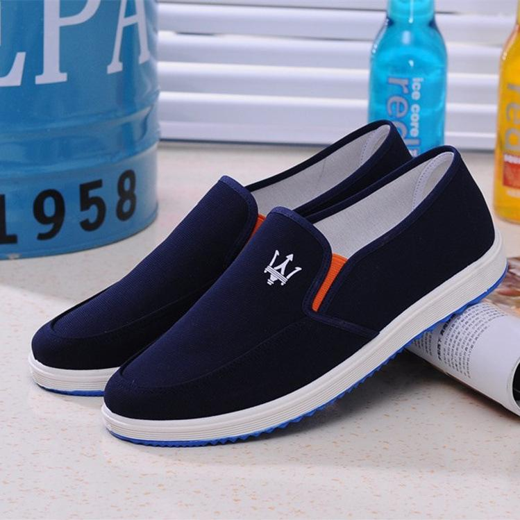 Luxury Mens Designer Loafers Breathable Casual Canvas Shoes Slip-On Maserati Shoes Men Driving Shoes Man Footwear Black Blue Gray