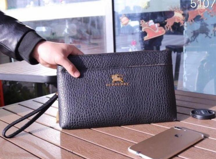 various kinds of newest style of aesthetic appearance Designer Men Clutch bags Designer Luxury Handbags Leather Soft and Sturdy  Mens Small Business Clutch Bag 28cm #5107