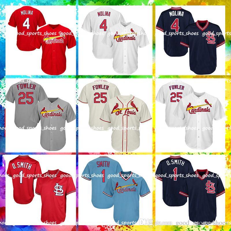 uk availability fa70f 4d552 St Louis Cardinals Majestic Coolbase Jersey 46 Paul Goldschmidt 25 Dexter  Fowler Jersey 1 Ozzie Smith Jersey 4 Yadier Molina Jerseys