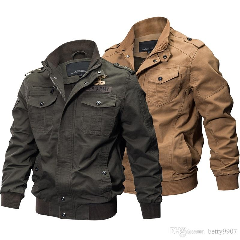 6dcd007538e7f Mens Designer Jackets Autumn Winter Coat Military Tactical Plus Size 5XL  6XL Cotton Bomber Cargo Flight Outwear Mens Designer Jackets Autumn Mens  Designer ...
