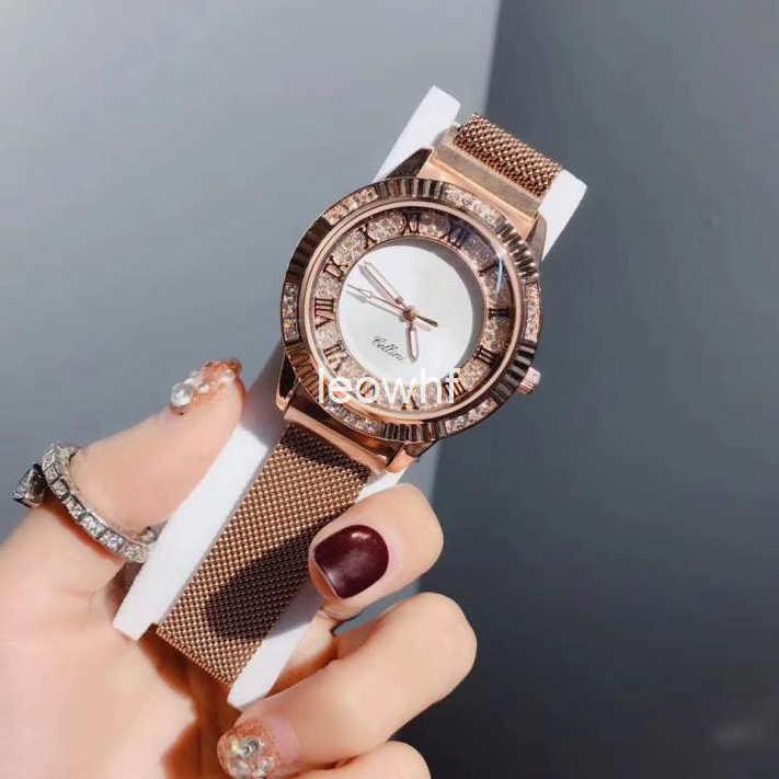 d4e3bccc8efe Compre Marca AAA Gran Banda De Moda De Lujo De Oro Rosa Mujeres 40 Mm Para Mujer  Reloj De Oso Resistente Al Agua De Cuarzo Milanesa Magnética Relojes De ...