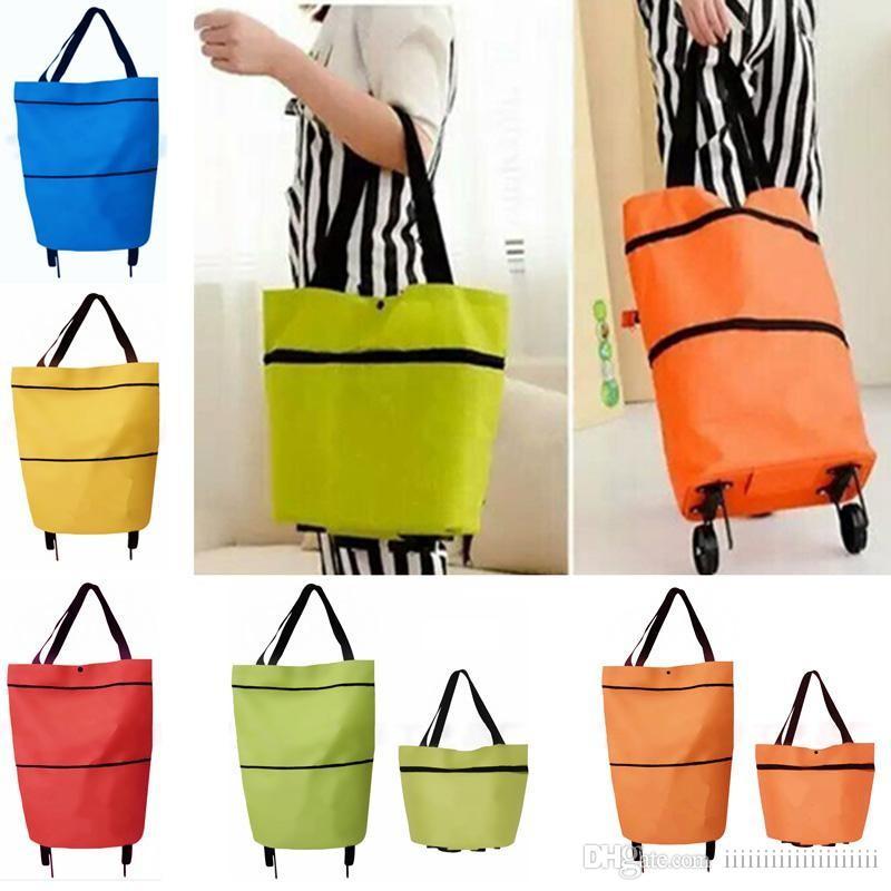 gro handel neue einkaufstrolley tasche mit r dern tragbare faltbare einkaufstasche. Black Bedroom Furniture Sets. Home Design Ideas