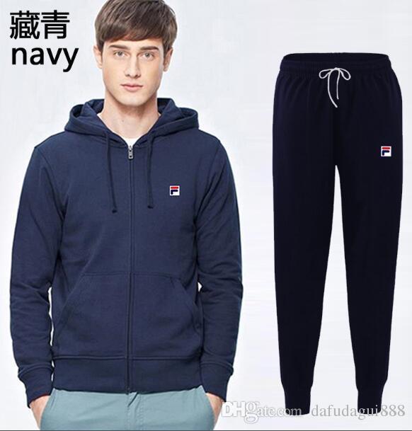 597a3ce791c Men Sportswear Hoodie And Sweatshirts Black White Autumn Winter ...