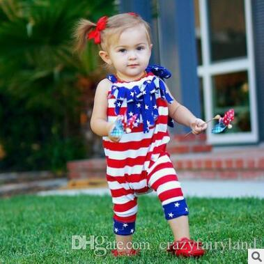 bc54567b7 2019 4th Of July Outfit Toddler Infant Baby Girl Boy 4th Of July Bodysuit  American Flag Sleeveless Romper Jumpsuit Outfit Clothes Infant Toddler From  ...