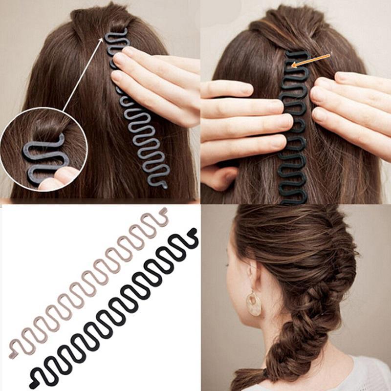 bfd6db1b M MISM 21 cm fabricante de estilos de pelo Tress Tool Accesorios para el  cabello Bandas DIY disco fácil simple para las mujeres niñas venden con ...