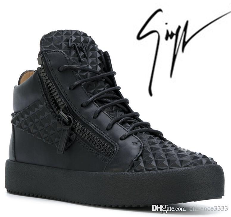 good available thoughts on Giuseppe x zanotti design GZ Black Rhombic High Top Sneakers Zapatos de  Hombre Mens and Women Designer Dress Casual Shoes