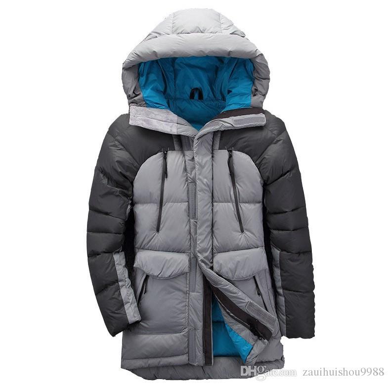 check out 078c7 d8cb0 top herren outdoor Der norden winter daunenjacke mantel gesicht  lederentfernt lässig wandern bergsteigen winddicht kanada ente 1