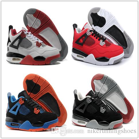 f0d3cc81d489ec All White Best Men Basketball Shoes 4 Military Motosports Blue Alternate 89  Pure Money New Basketball Trainers 4s Sports Sneakers US 5 13 Shoes Kids  Kids ...