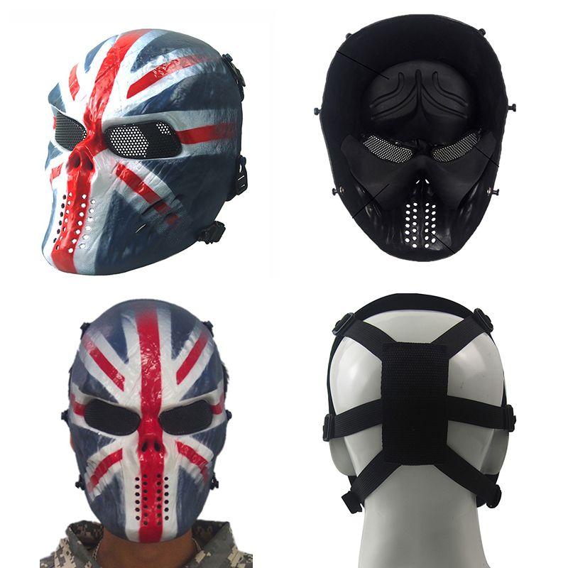 Táctico Paintball Mascarilla Facial Cráneo Esqueleto M06 Máscara Ligero Transpirable Máscaras de miedo a prueba de viento para deportes al aire libre