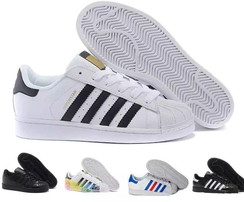 livraison gratuite ef9a7 9a718 Adidas Superstar Smith Allstar 2019 Chaud VENDRE concepteurs Mode  chaussures de course pour hommes Superstar Femme Chaussures Plates Femmes  Hommes ...