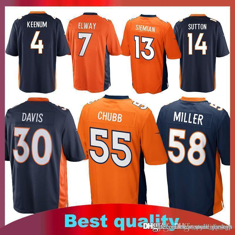hot sale online d3753 66e97 30 Phillip Lindsay Denver Bronco jersey 58 Von Miller 14 Courtland Sutton  13 Trevor Siemian jerseys 55 Bradley Chubb