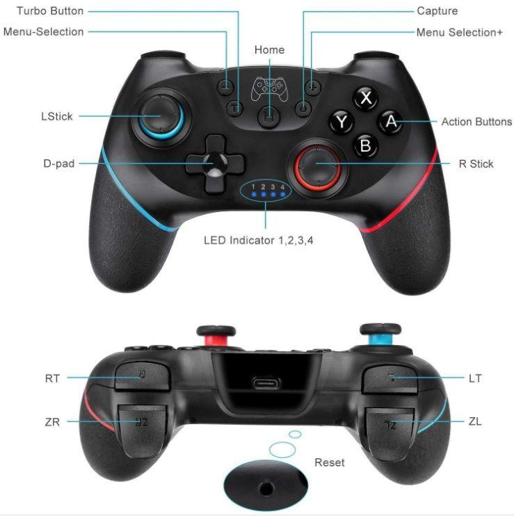 Bluetooth Wireless Controller Switch Pro Gamepad Joypad Joystick For Nintendo Switch Pro Console