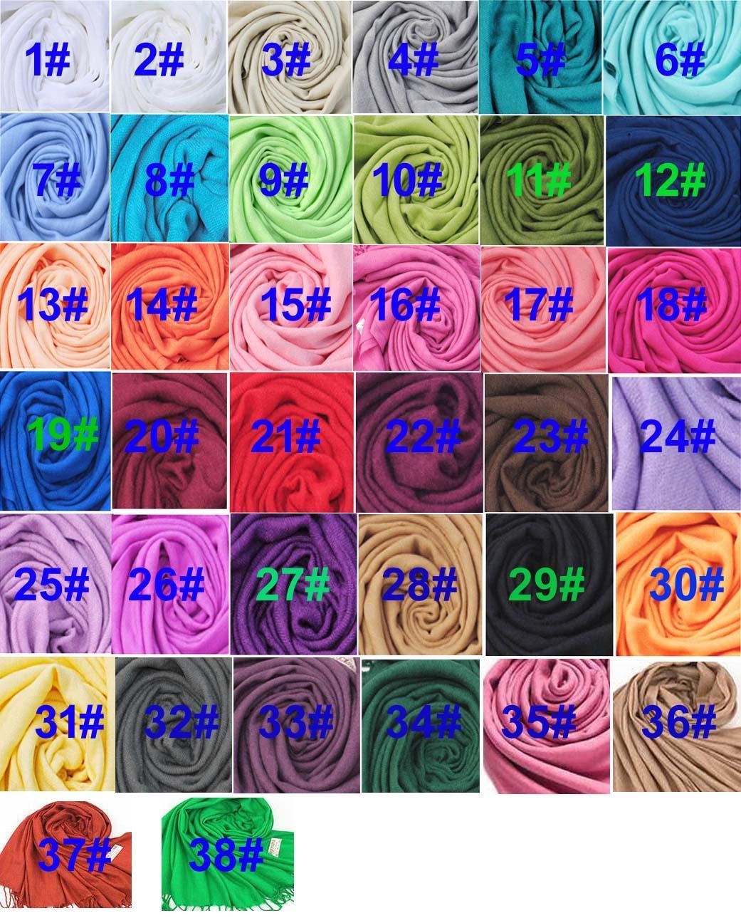 Acheter Article Chaud Pashmina Cachemire Soie Solide Châle Wrap Unisexe  Long Range Foulard Femmes      s Foulard Femme Pure 40 Couleur De  4.41 Du  ... dd4cc5bf90f