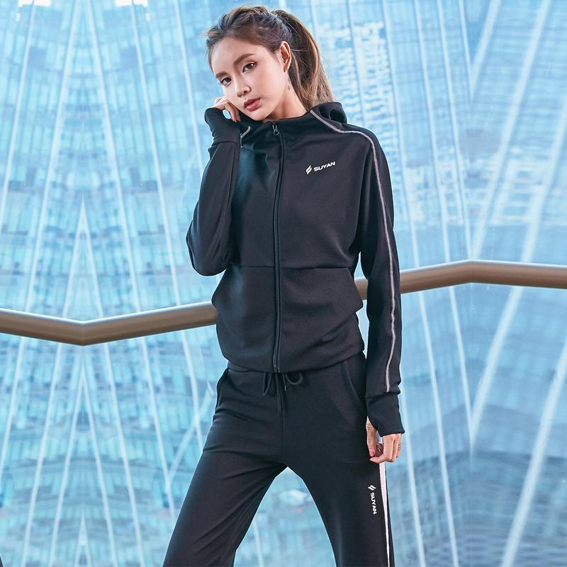 7fe1d9ee0fe9 Acquista Tuta Autunno Inverno Donna Sportiva Tuta Con Cappuccio Giacca E  Pantalone Da Corsa 2 Pezzi Da Jogging Set Fitness Completo Da Donna Sportivo  A ...