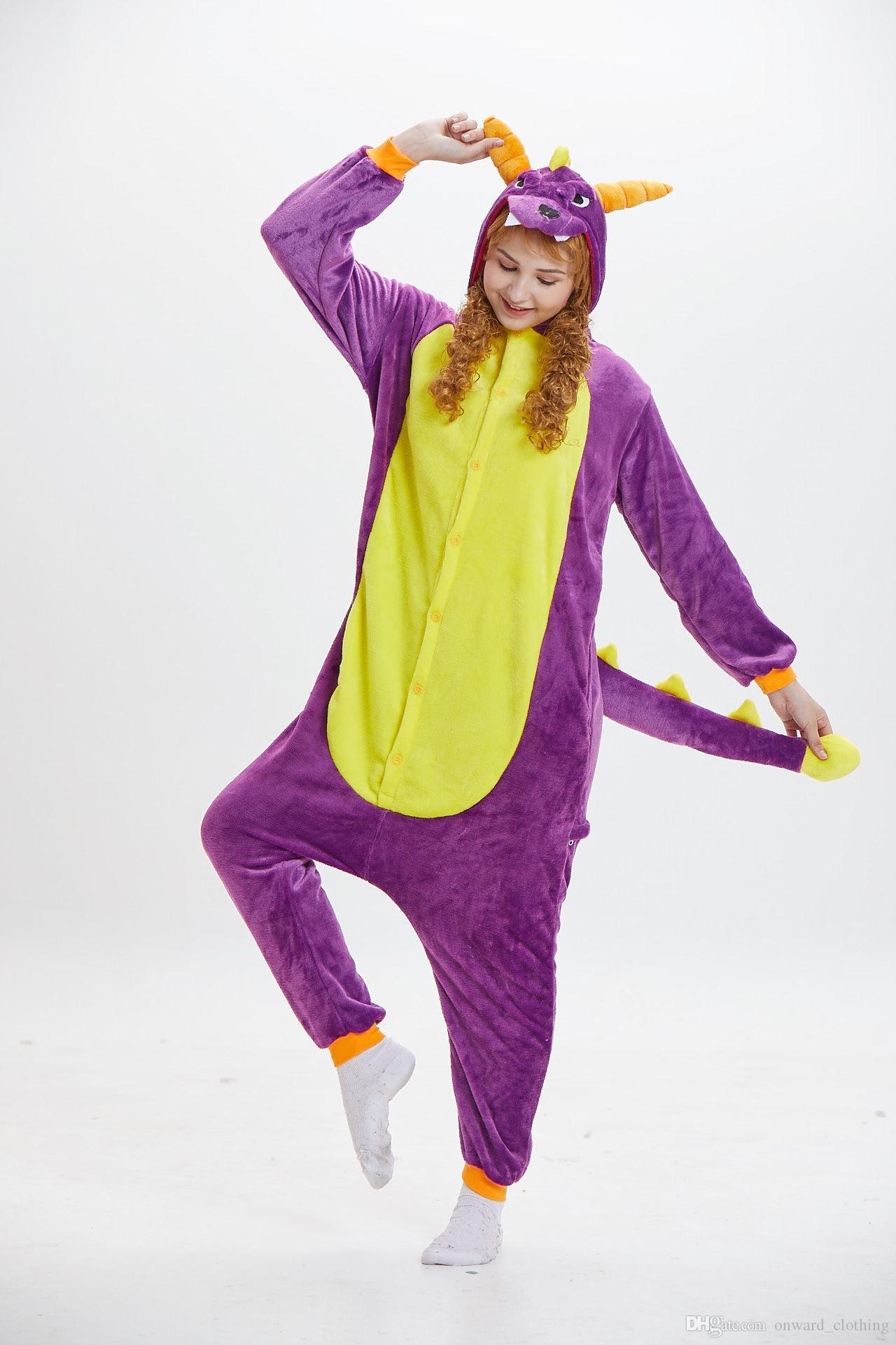 Compre Conjuntos De Pijamas De Franela De Dinosaurio Pijamas De Animales  Cosplay Ropa De Dormir De Punto De Dormir Ropa De Dormir De Dibujos  Animados A ... c28bde0f4bd8
