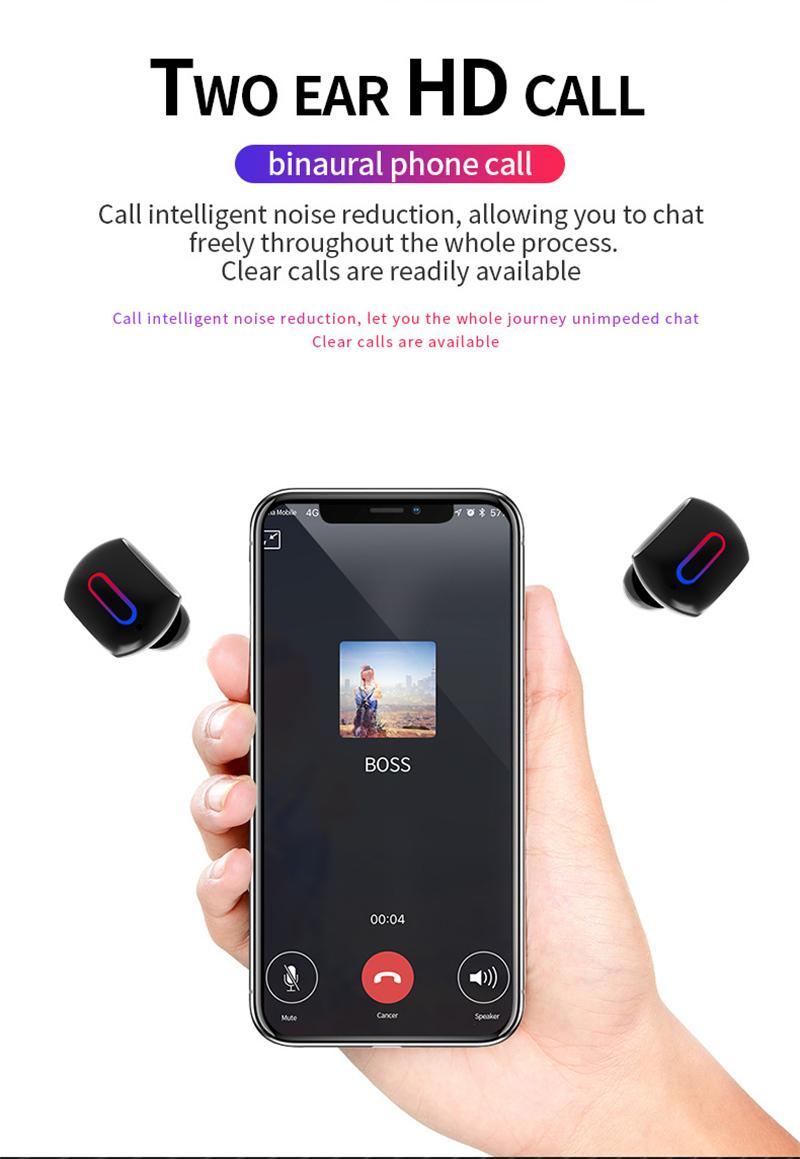 Auricolari wireless G2 Auricolari Bluetooth con TWS Bluetooth 5.0 con custodia di ricarica Mini cuffie Bluetooth auto Samsung samsung xiaomi