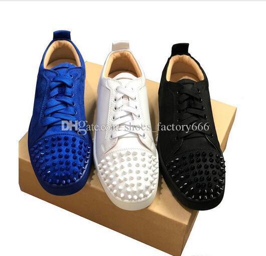 info for 8db24 64fba NEUE Designer Sneakers Rote Untere schuh Low Cut Wildleder spike Luxus  Schuhe Für Männer und Frauen Schuhe Party Hochzeit kristall Leder Turnschuhe