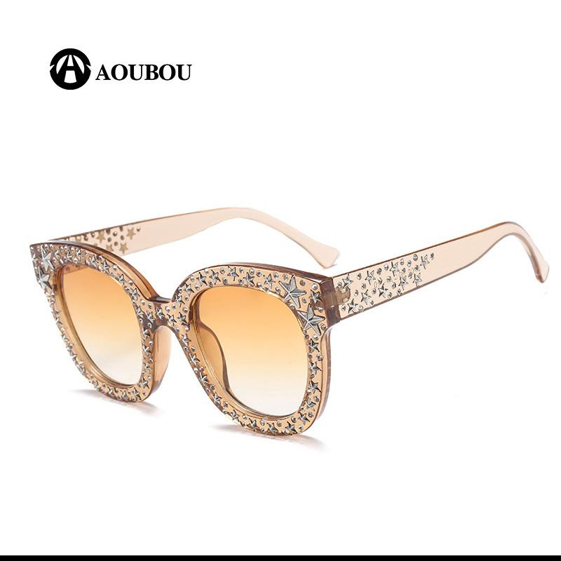 4852a3fcc3206 Retro Pentagram Sunglasses Women Rhinestone Clout Goggles Fashion Oculos De  Grau Feminino Rave Festival Tmall Shades Kurt Cobain Suncloud Sunglasses  Foster ...
