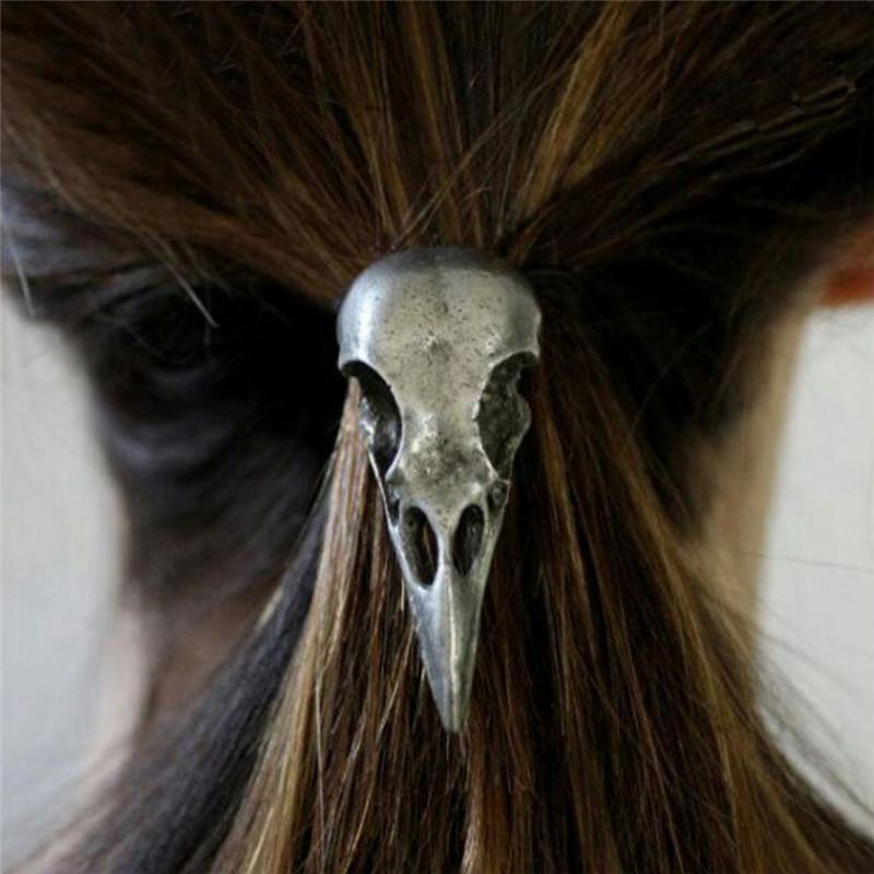 5cf7a42b42bc Fashion Women Punk Gothic Raven Skull Crow Elastic Hair Rope Hair Band  Accessories Bow Hair Accessories Hair Bow Accessories From Jinzhong,  $32.83| DHgate.