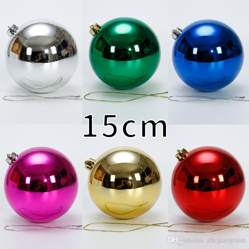 Factory Balls Christmas.15cm Decorations Lectroplating Christmas Tree Balls Holiday Decoration Ball Ornament Shatterproof Wedding Party Outdoor Decoration Tree Ball