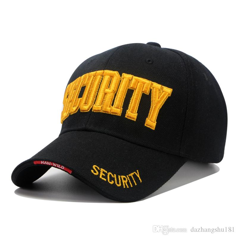 New High Quality Outdoor Baseball Caps Men Women Cotton Security ... 4206a56c26c