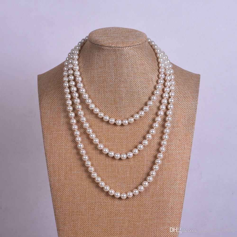532e2321fda1 Compre Collar Largo De Perlas De 150cm