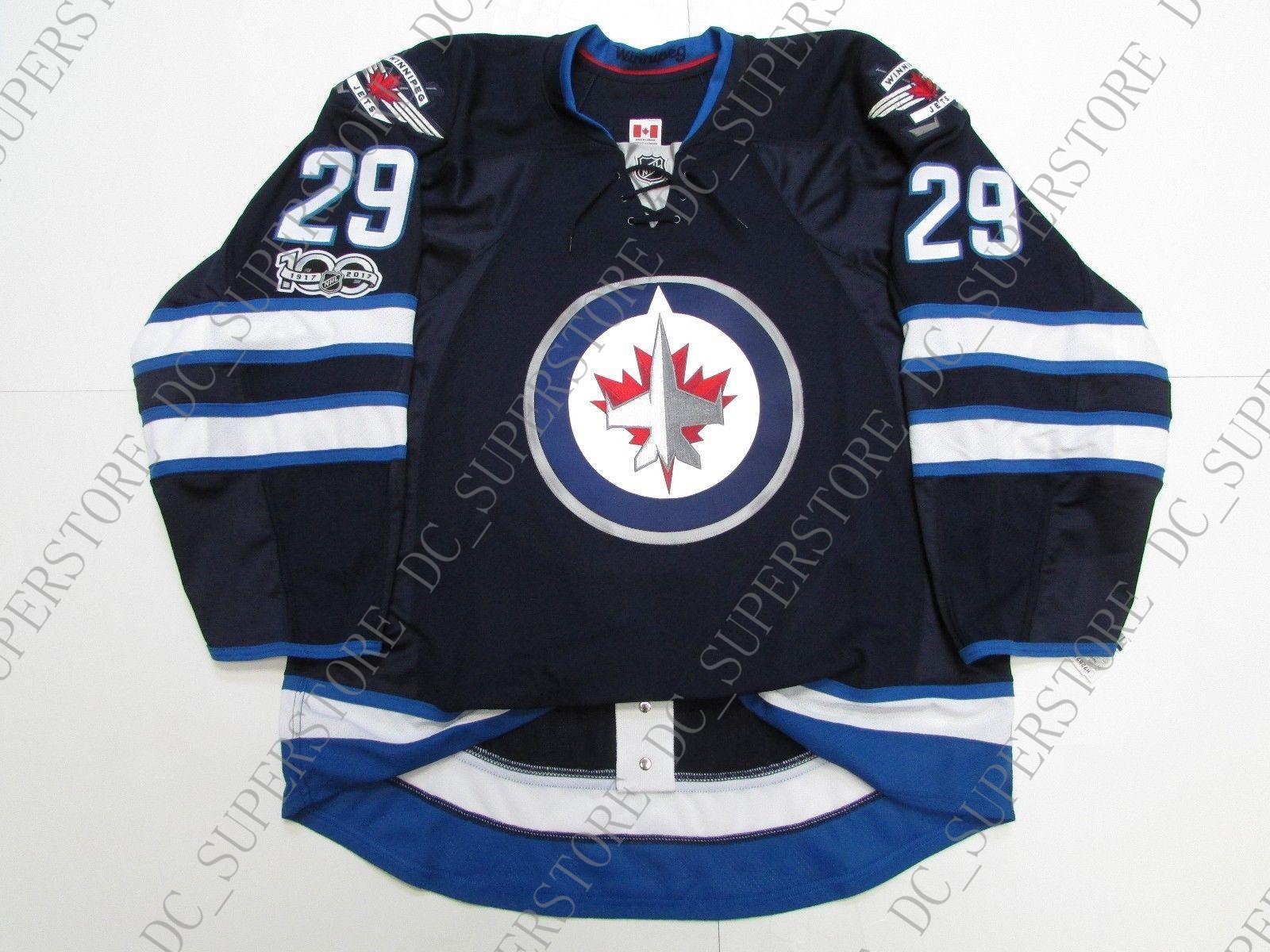 412148b241f 2019 Cheap Custom LAINE WINNIPEG JETS HOME 100th ANNIVERSARY JERSEY Stitch  Add Any Number Any Name Mens Hockey Jersey XS 5XL From Dc_superstore, ...